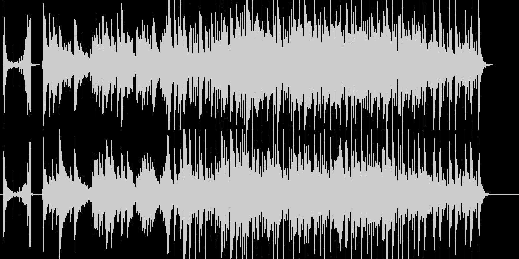 お洒落でスタイリッシュなPR動画用BGMの未再生の波形