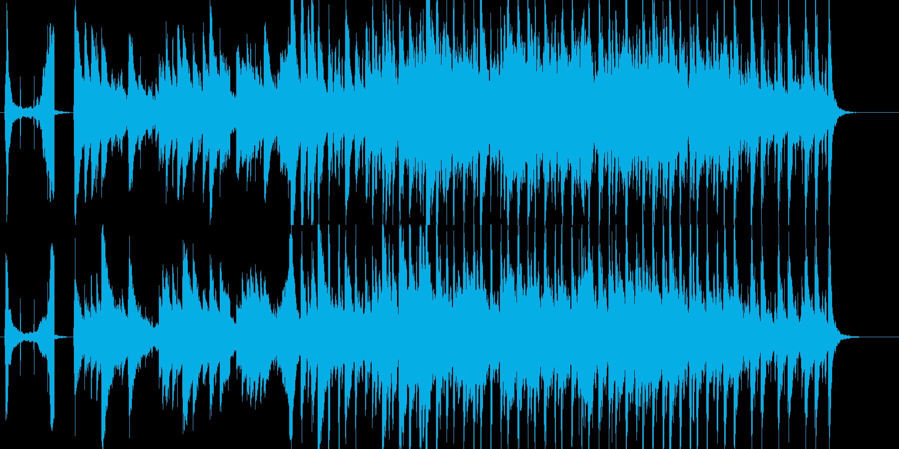 お洒落でスタイリッシュなPR動画用BGMの再生済みの波形
