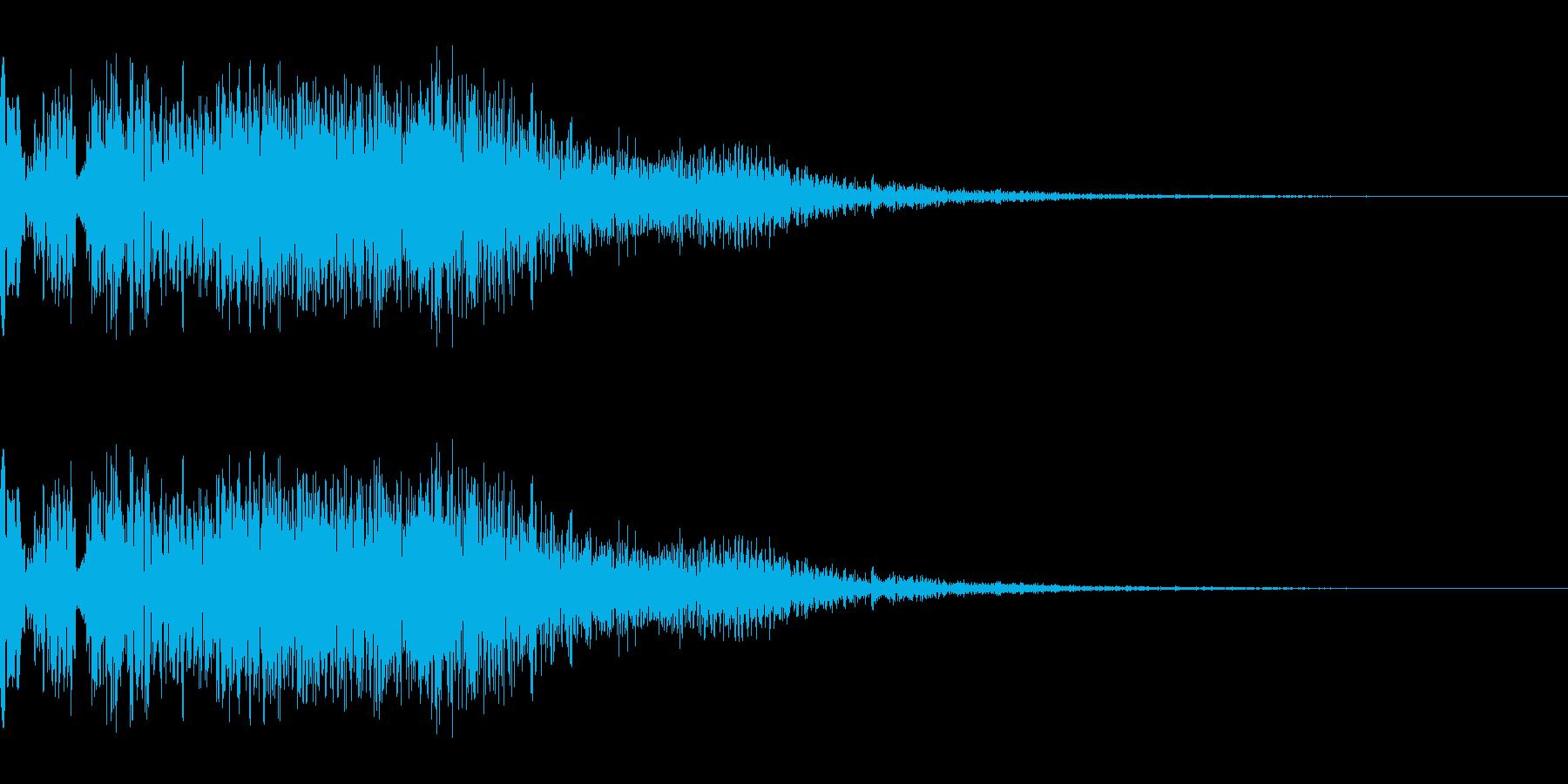 ビシュッっという斬撃の効果音です。の再生済みの波形