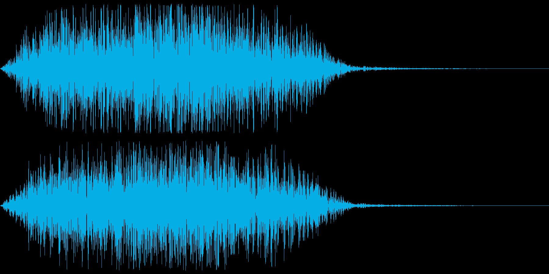 風魔法 (突風)  ヒューゥンの再生済みの波形