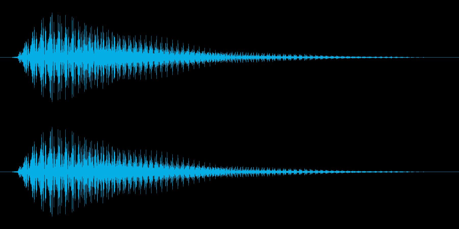 ライトセーバー風SE_素早く振る2の再生済みの波形