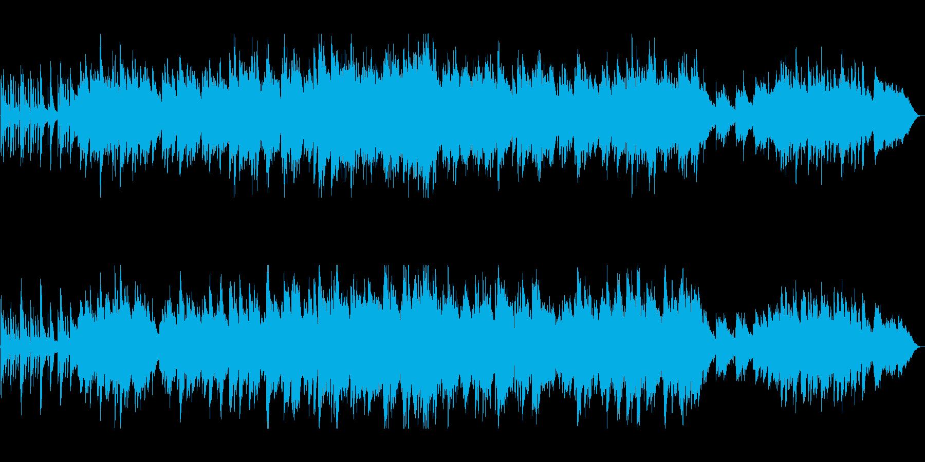 ピアノが主体のきれいな曲の再生済みの波形
