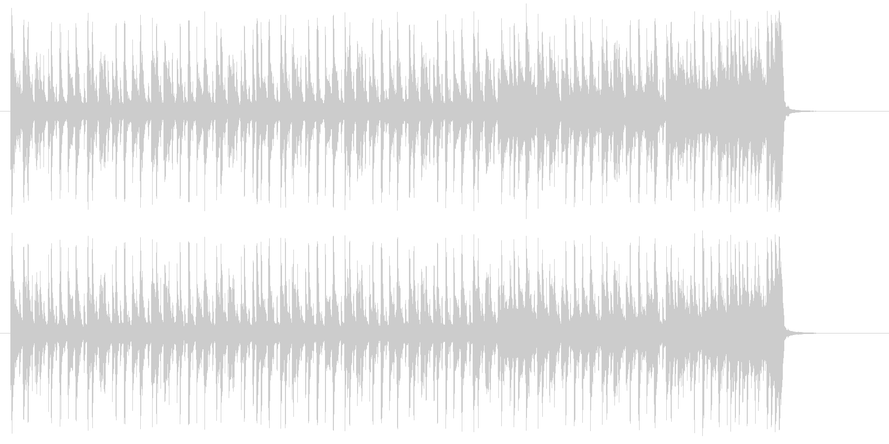 軽快でパーカッシブなジングルの未再生の波形