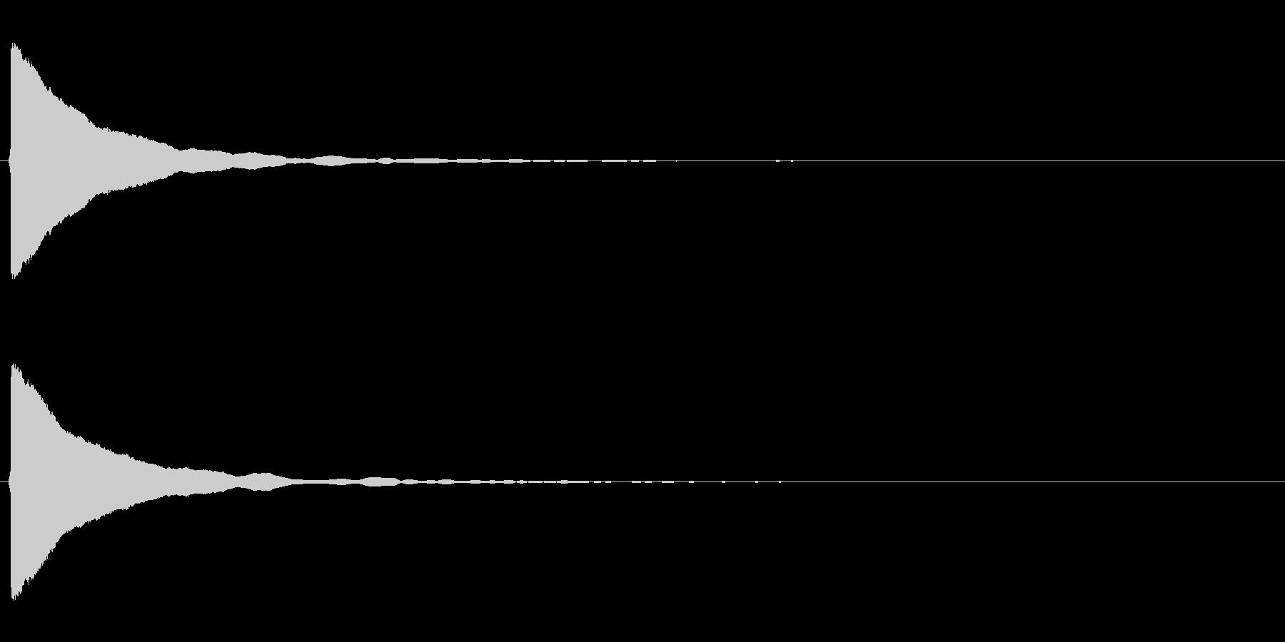 ピコン(閃く、決定、セーブ)の未再生の波形