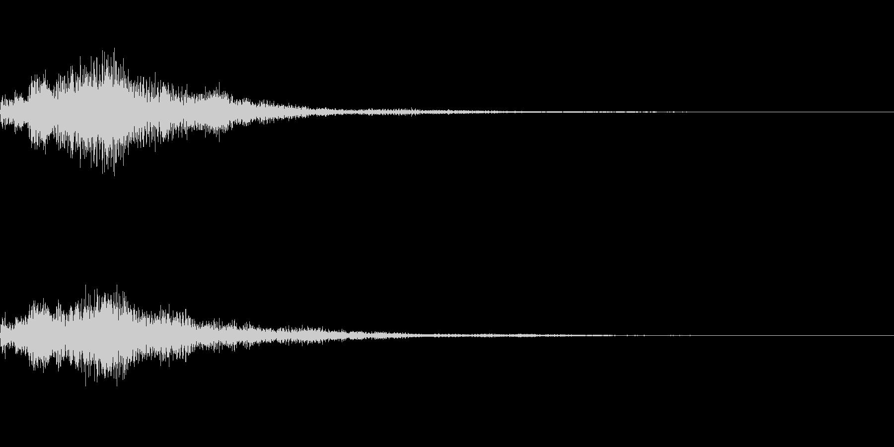 魔法系のサウンドの未再生の波形