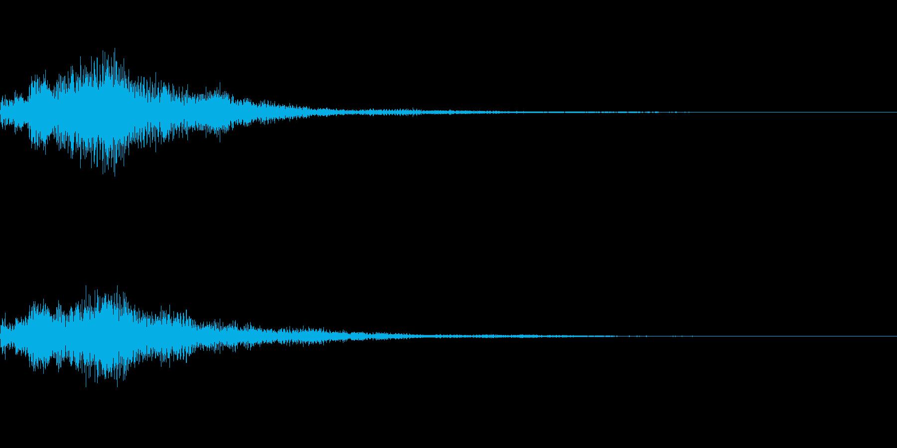 魔法系のサウンドの再生済みの波形