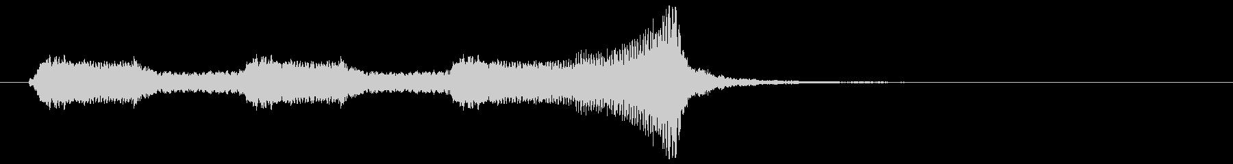 懐かしのアメリカアニメ映画風ジングル2の未再生の波形