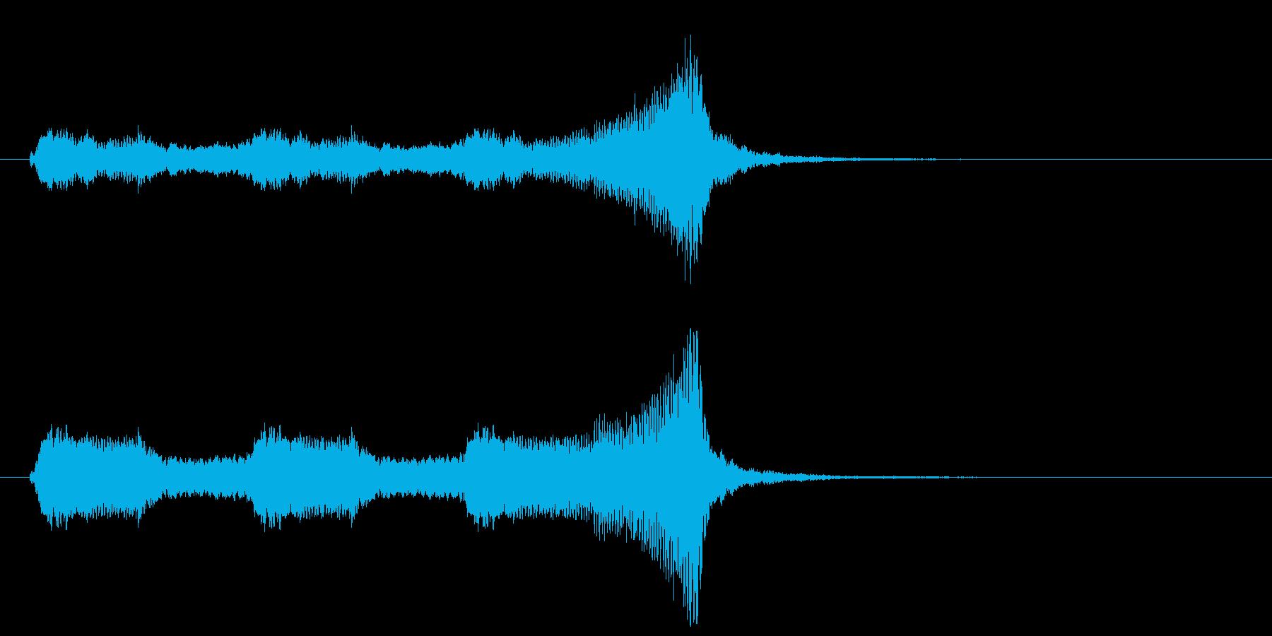 懐かしのアメリカアニメ映画風ジングル2の再生済みの波形