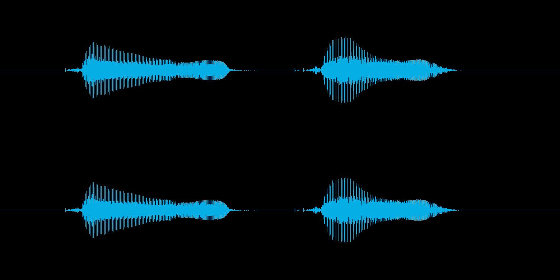 つんつん♪の再生済みの波形