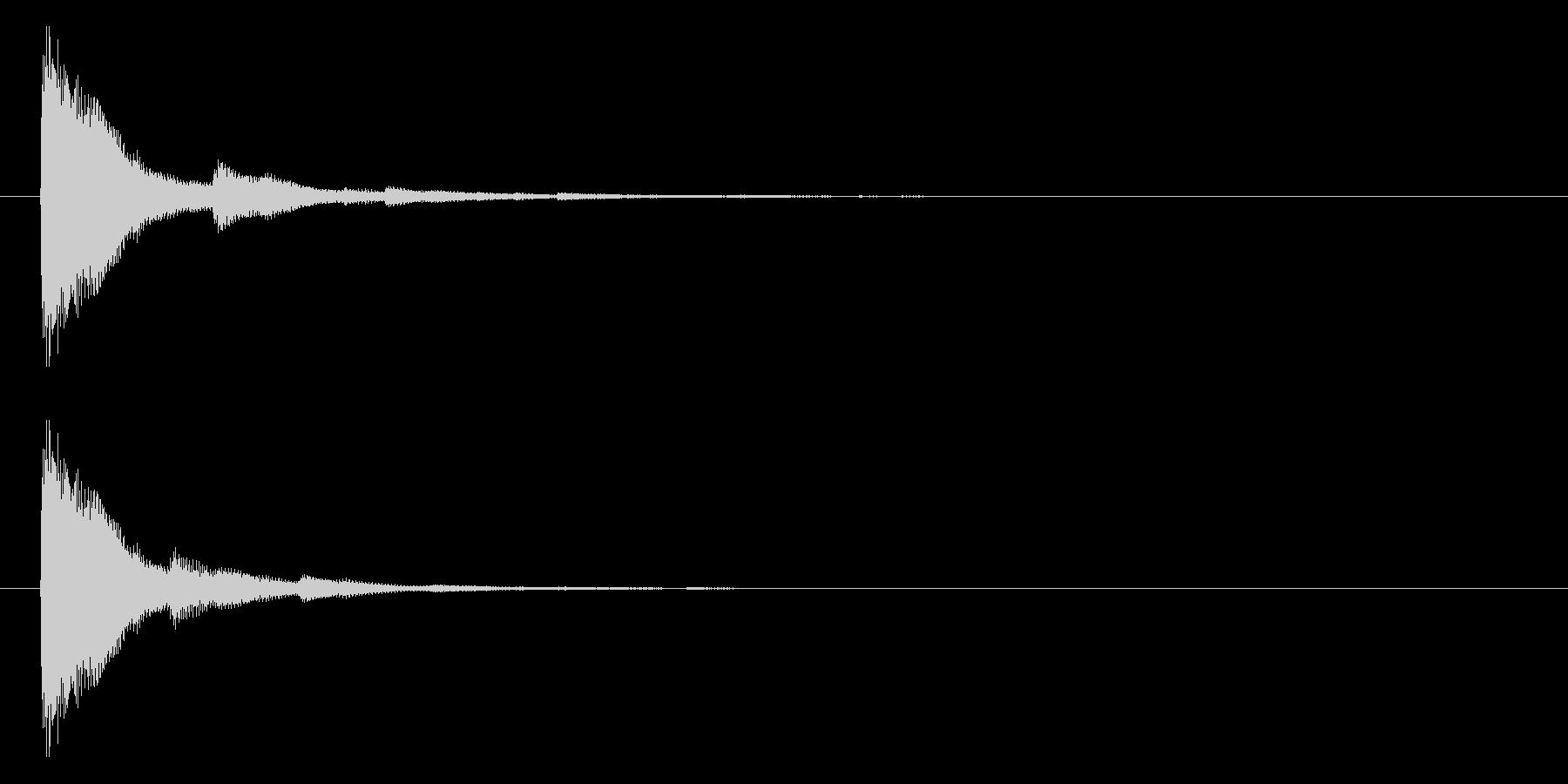 ジャーン(和風、サムライ等)の未再生の波形
