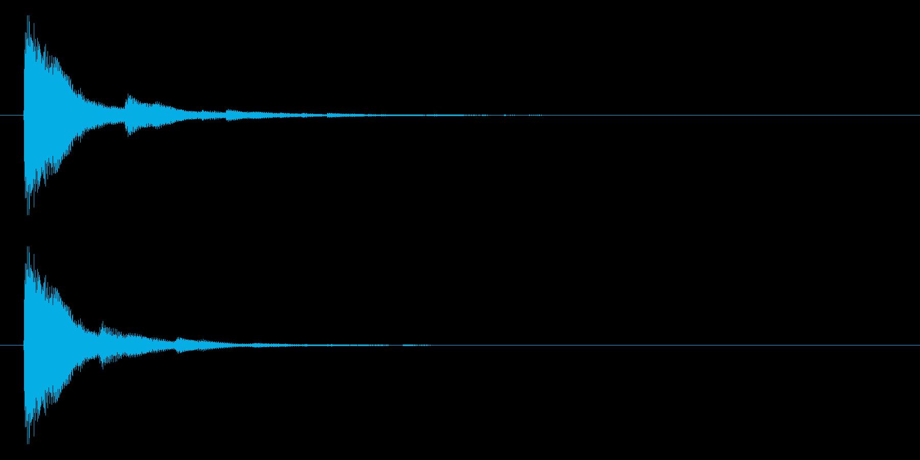 ジャーン(和風、サムライ等)の再生済みの波形