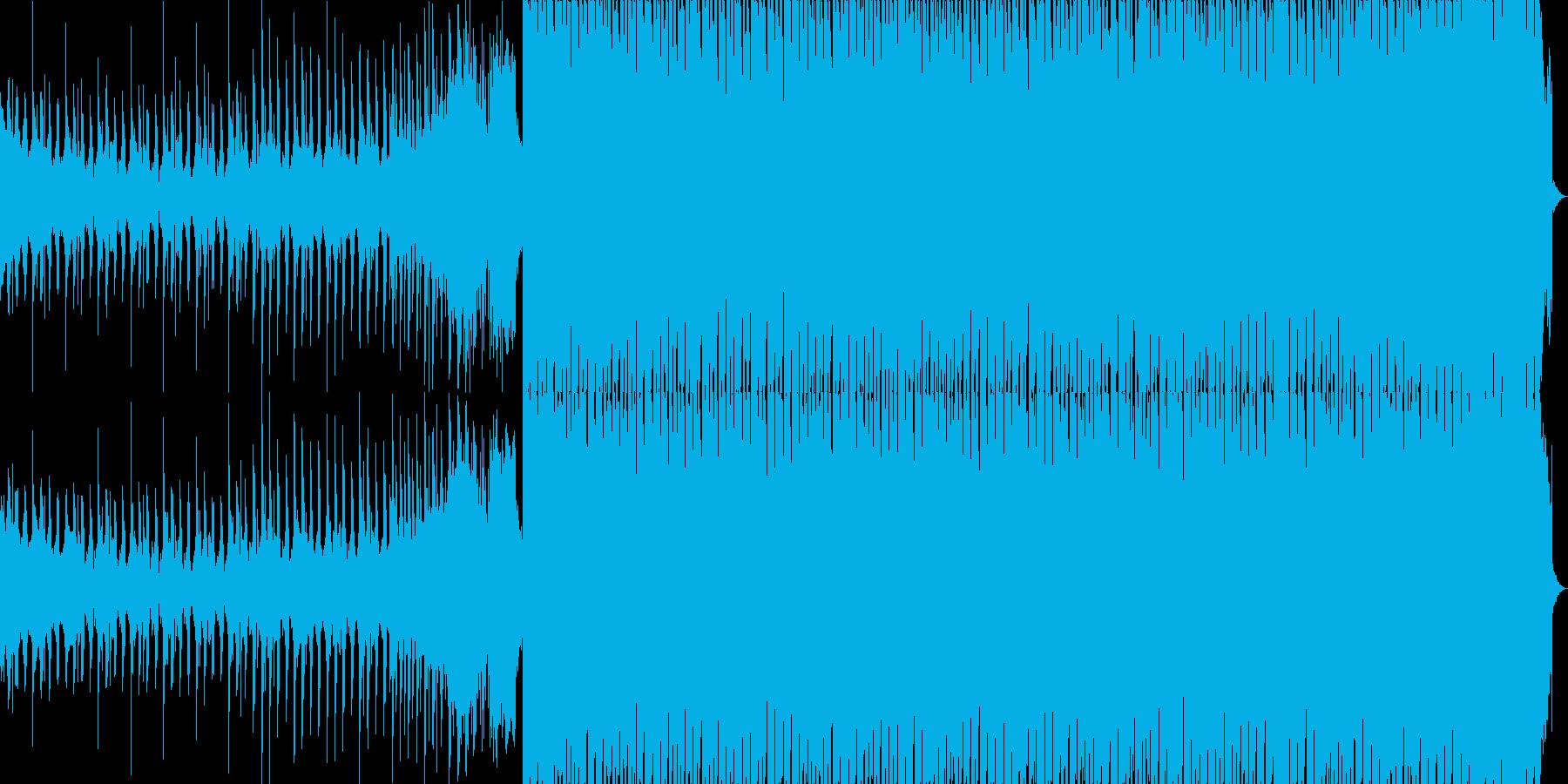 スタイリッシュで明るく爽やかなEDMの再生済みの波形
