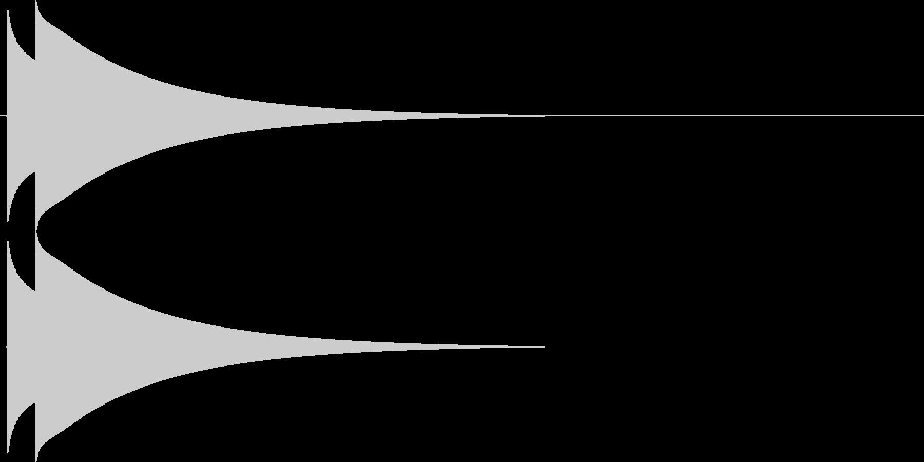 ピコン。シンプルなベルの効果音です。の未再生の波形