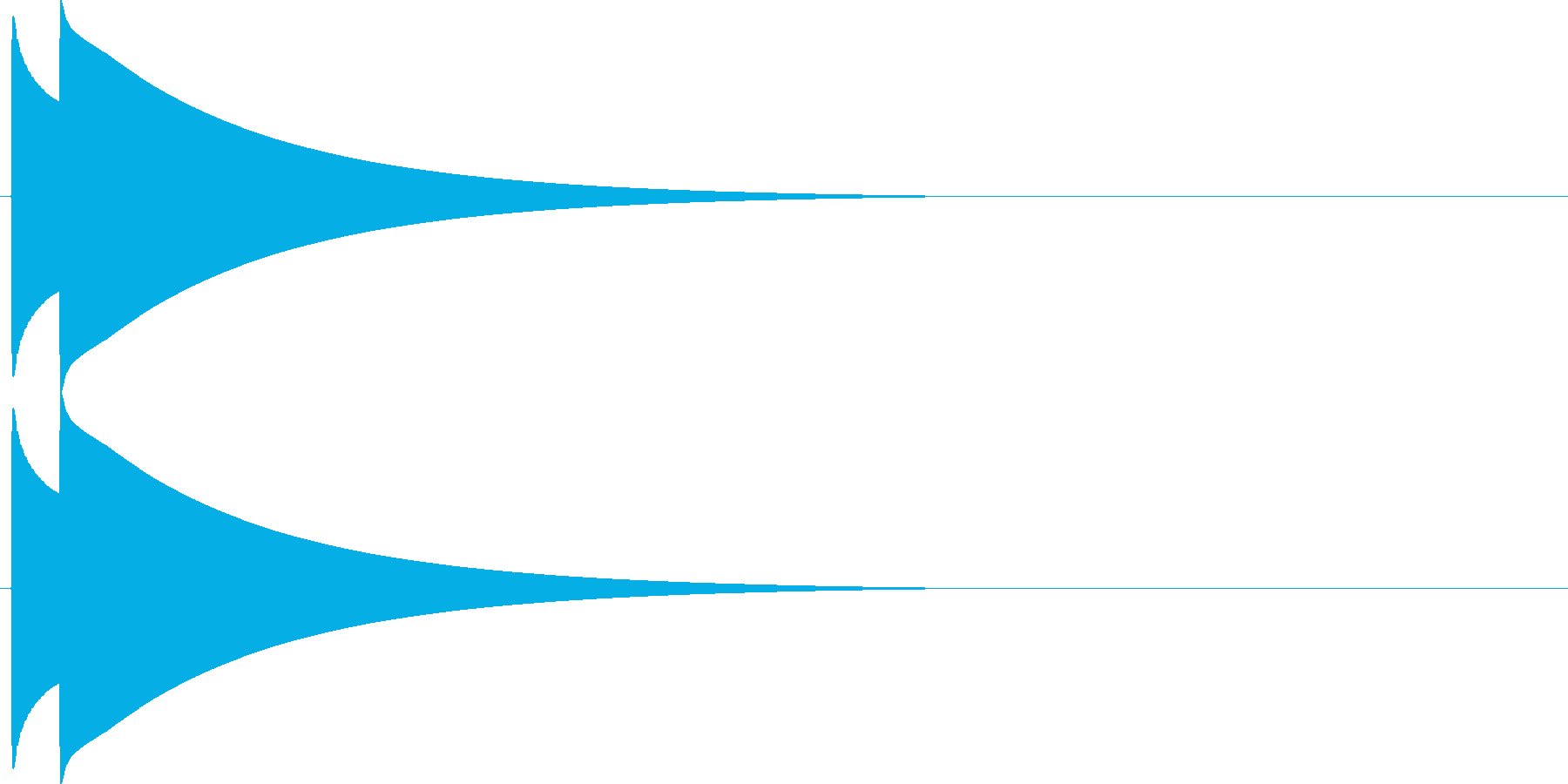ピコン。シンプルなベルの効果音です。の再生済みの波形