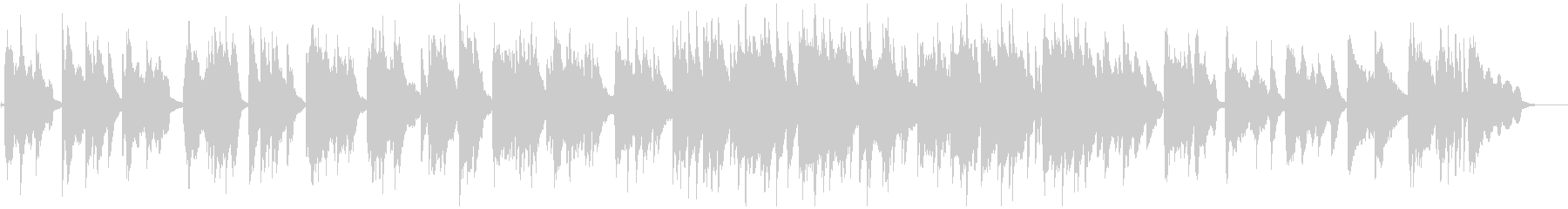ピアノが美しいジャズボサノバBGMの未再生の波形
