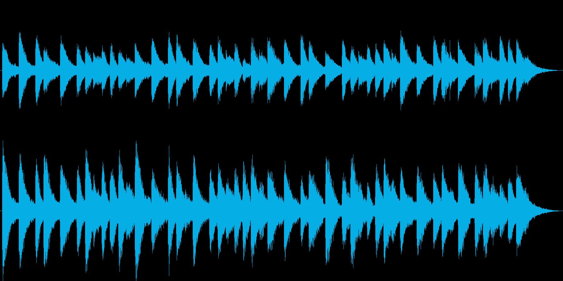 クリスマス、ベルの音色の再生済みの波形
