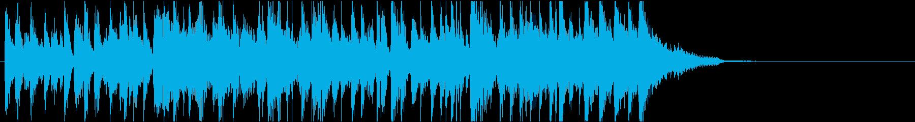 ジングル かっこいいジャズロックの再生済みの波形