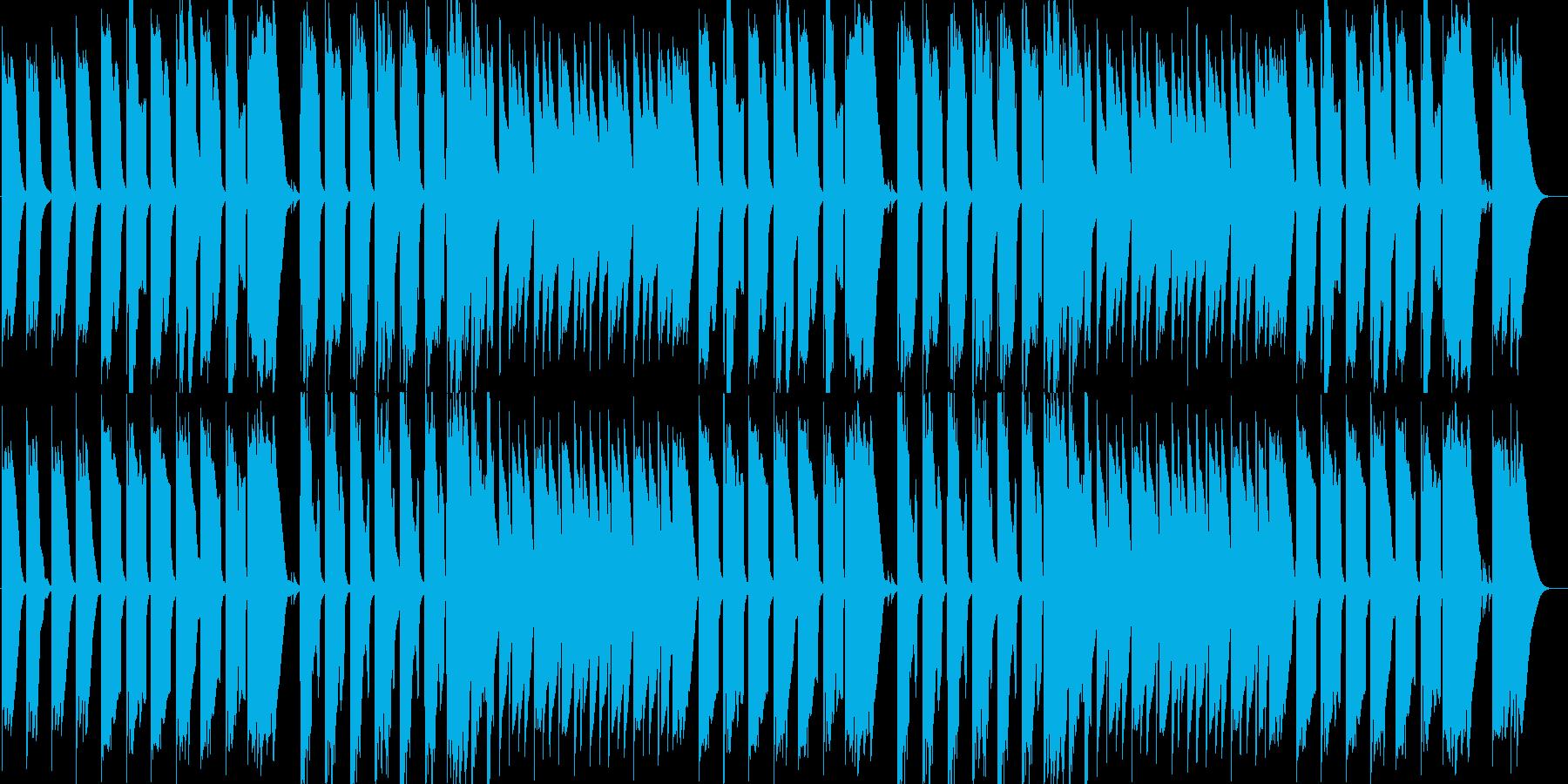自然や始まりをイメージした優しいBGMの再生済みの波形