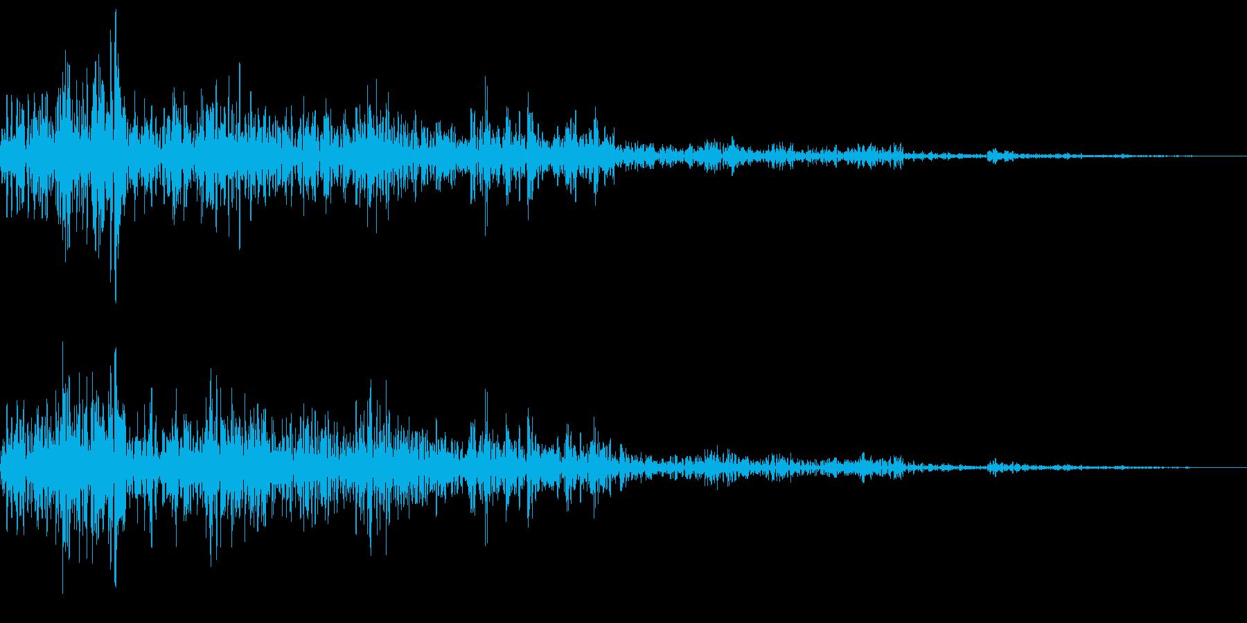 感情:怒る_雷イメージドドーンの再生済みの波形