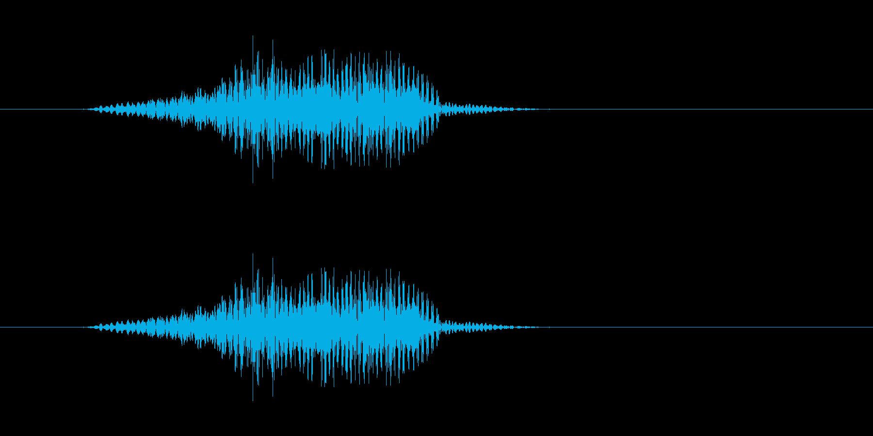 やぁっ!! - 男性和風掛け声の再生済みの波形