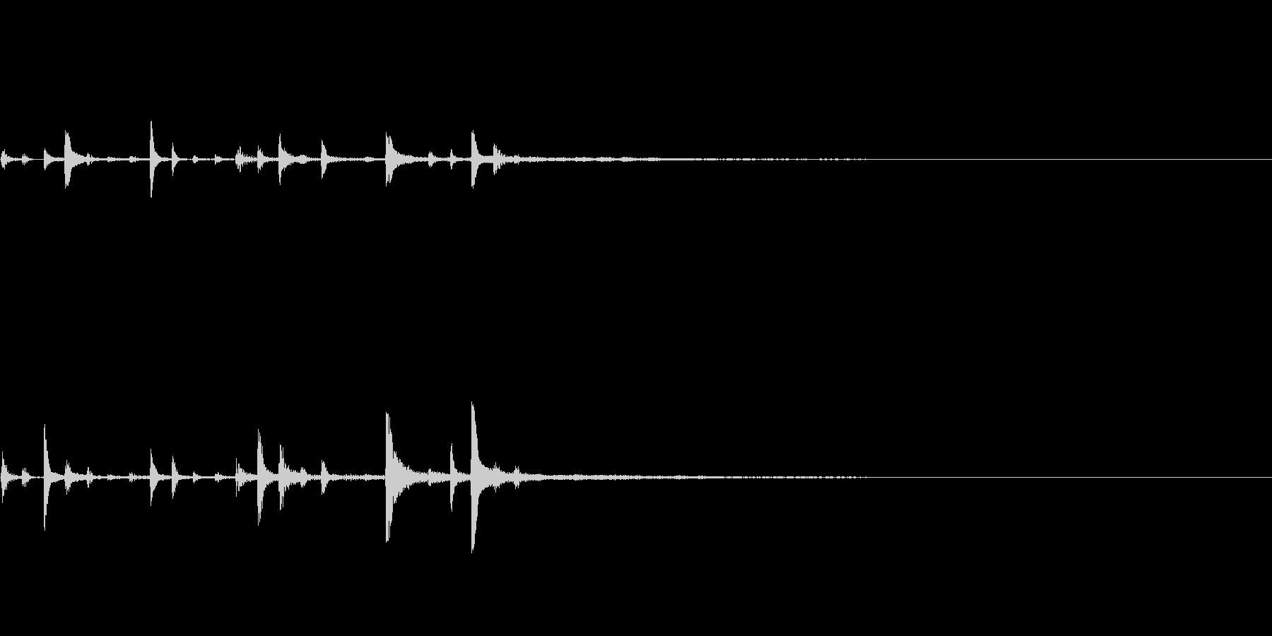【SE 効果音】機会的なノイズ4の未再生の波形