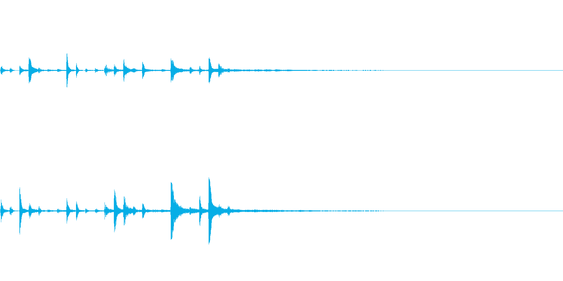 【SE 効果音】機会的なノイズ4の再生済みの波形