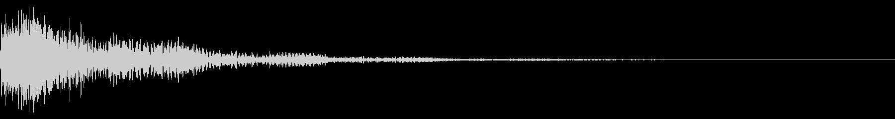太鼓と三味線の和風インパクトジングル!9の未再生の波形