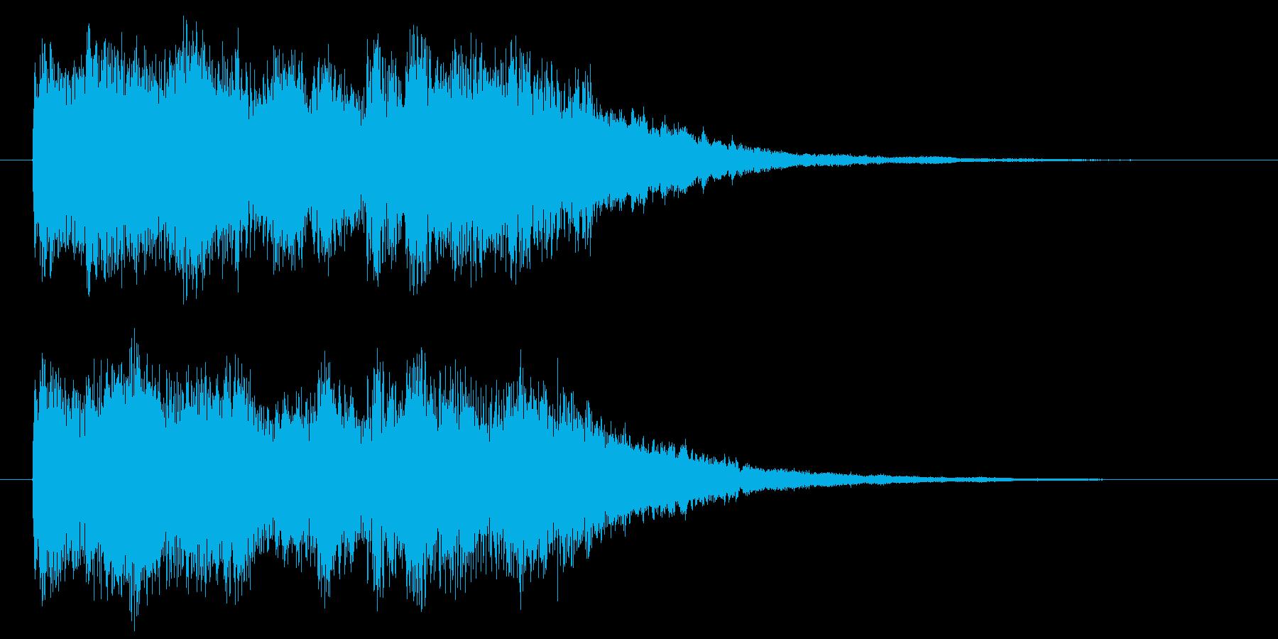 うきうき感のあるポップなハネ系ジングルの再生済みの波形