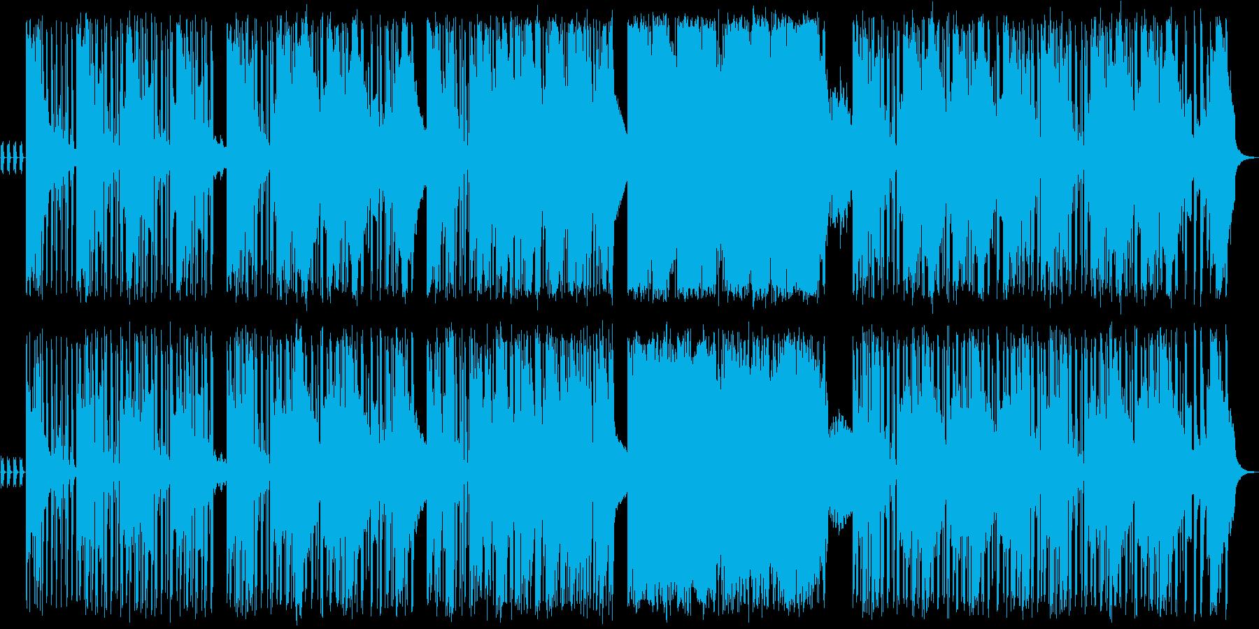 暗いイメージの洞窟やフィールド曲の再生済みの波形
