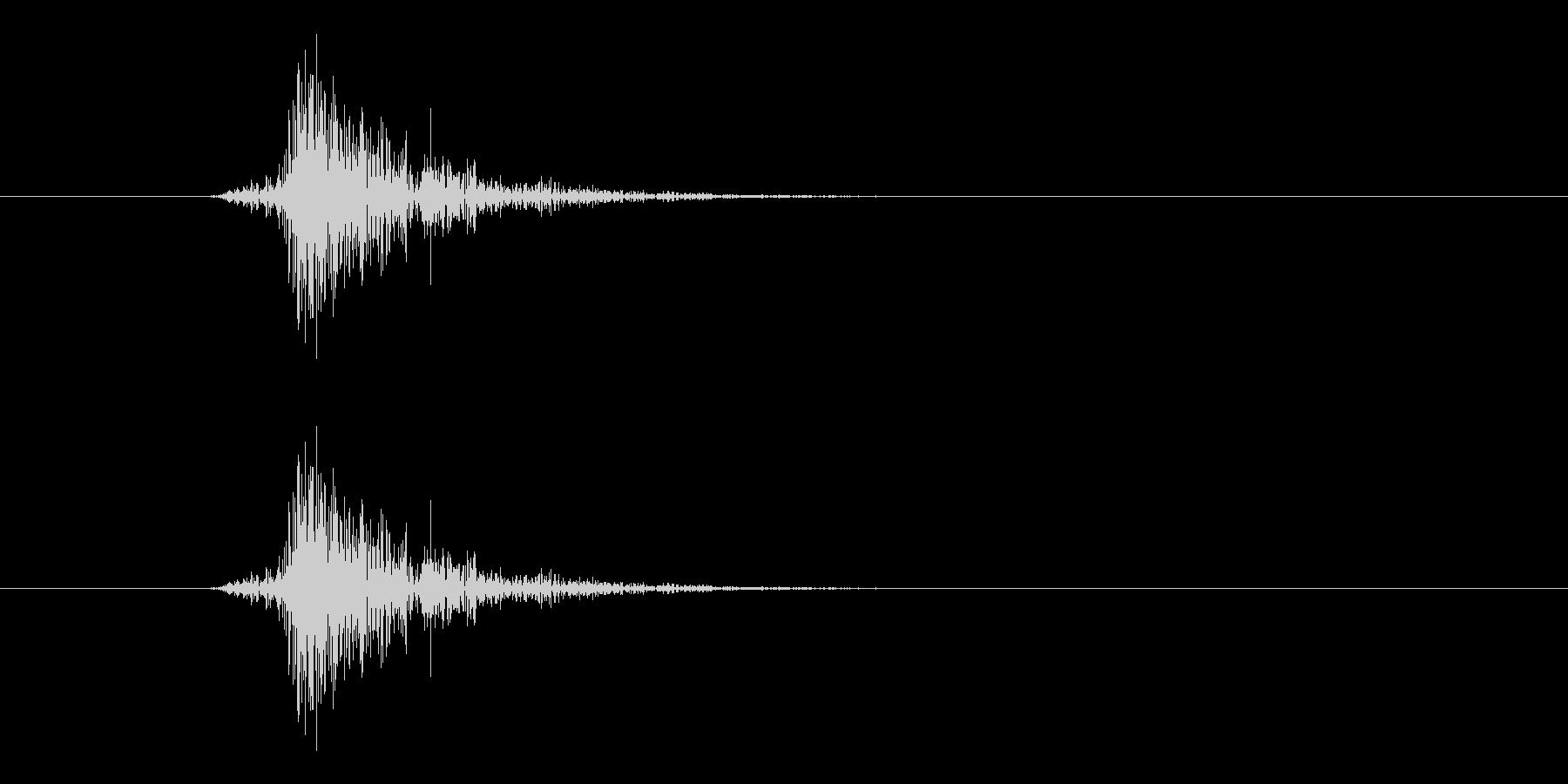 テック系ボタン音5(チッ)の未再生の波形