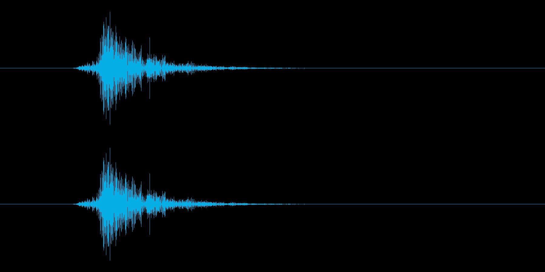 テック系ボタン音5(チッ)の再生済みの波形