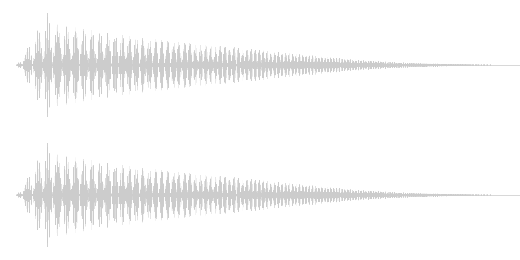雲(もくっ/コミカル/妄想)の未再生の波形