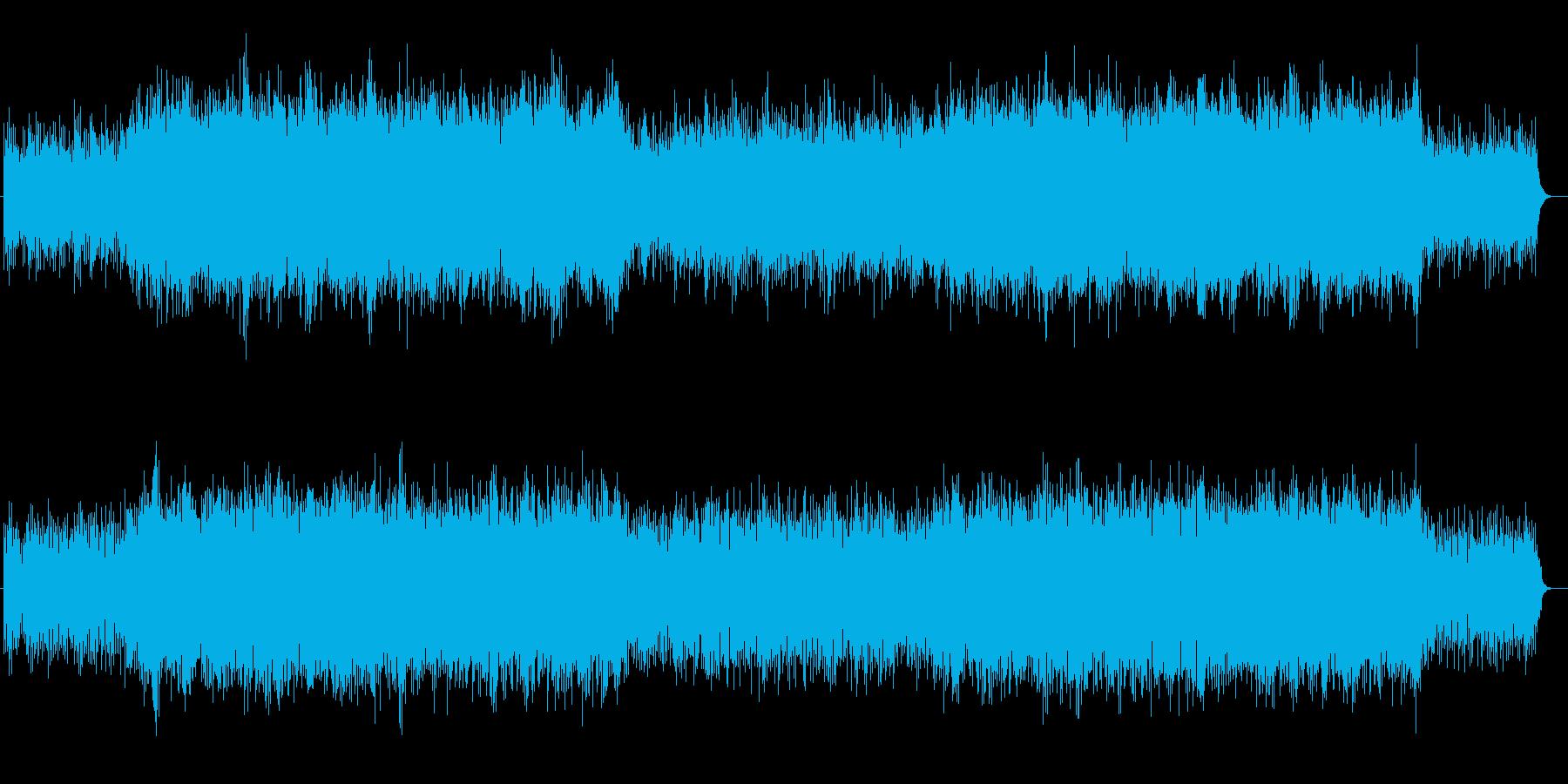 神秘的古代風ギターシンセサウンドの再生済みの波形