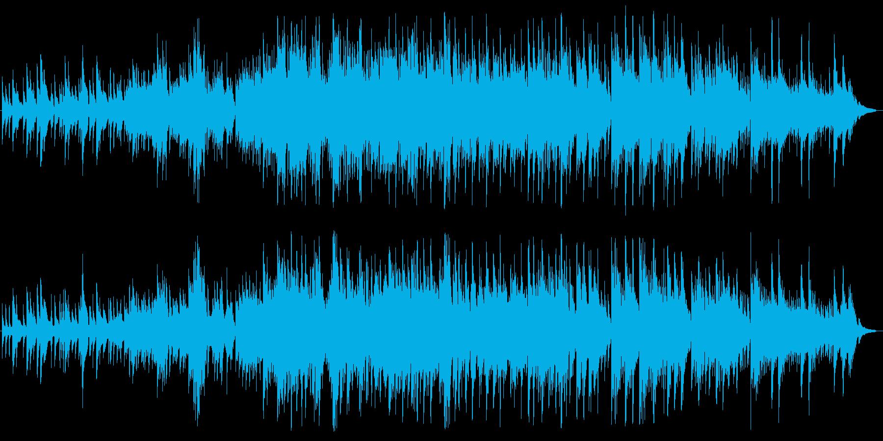 七夕の星空がイメージの穏やかな曲の再生済みの波形