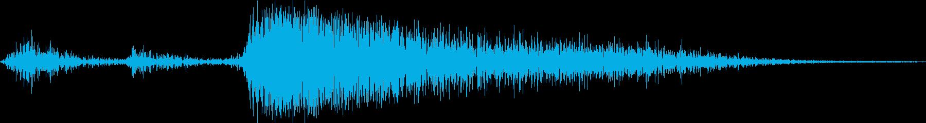 プシュッ(缶ビール・炭酸飲料を開ける音)の再生済みの波形