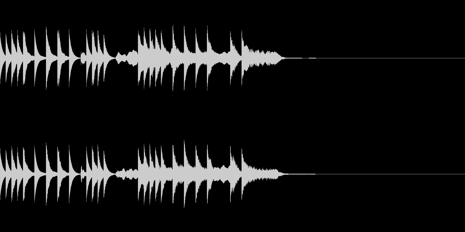 ふわふわとしたメルヘンチックなジングルの未再生の波形
