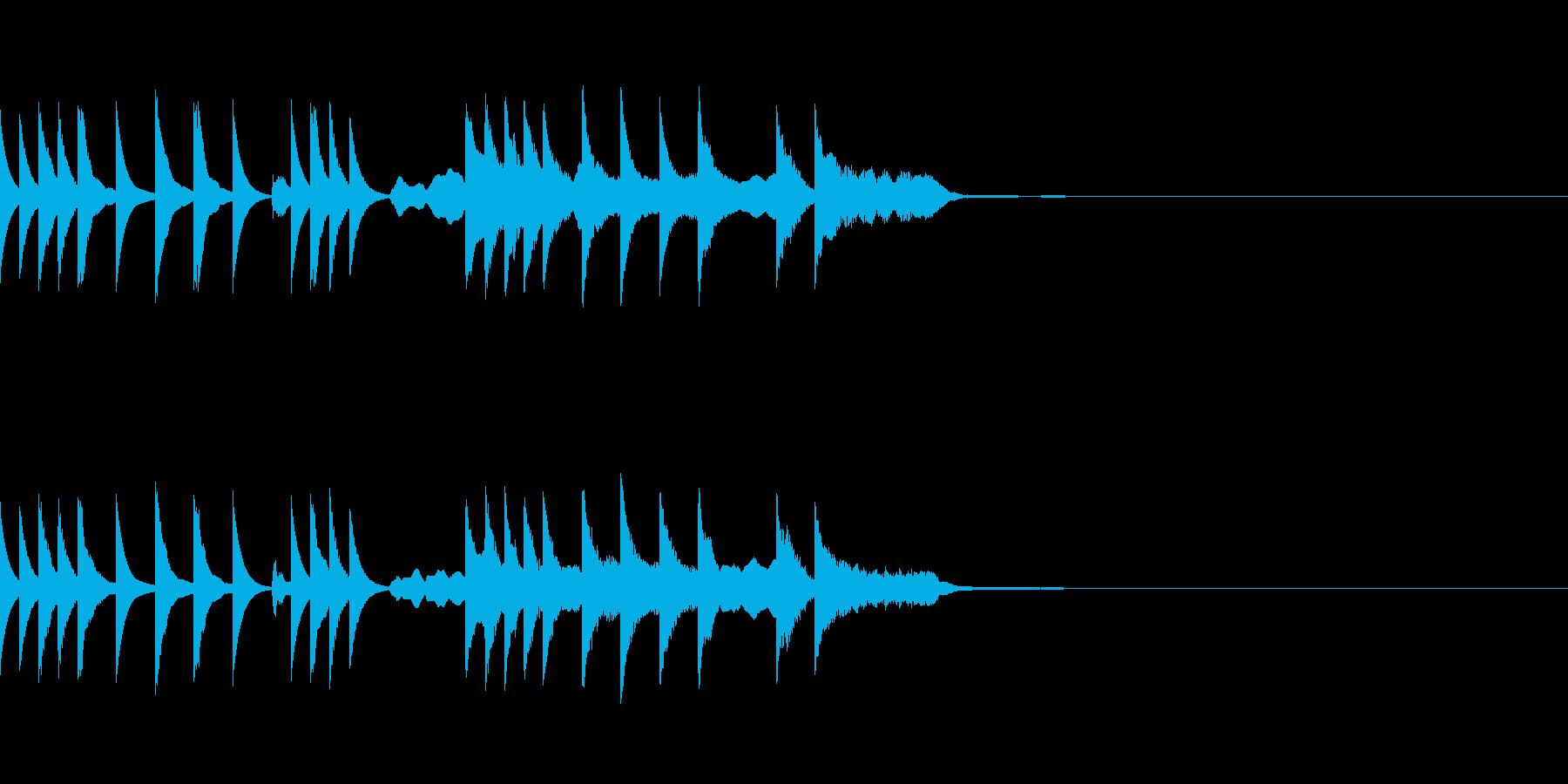 ふわふわとしたメルヘンチックなジングルの再生済みの波形