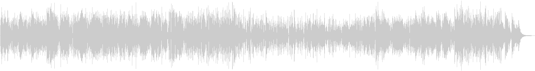 バリトンサックスとギターのボサノバDuoの未再生の波形