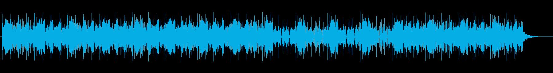 コミカルなテクノミュージックの再生済みの波形