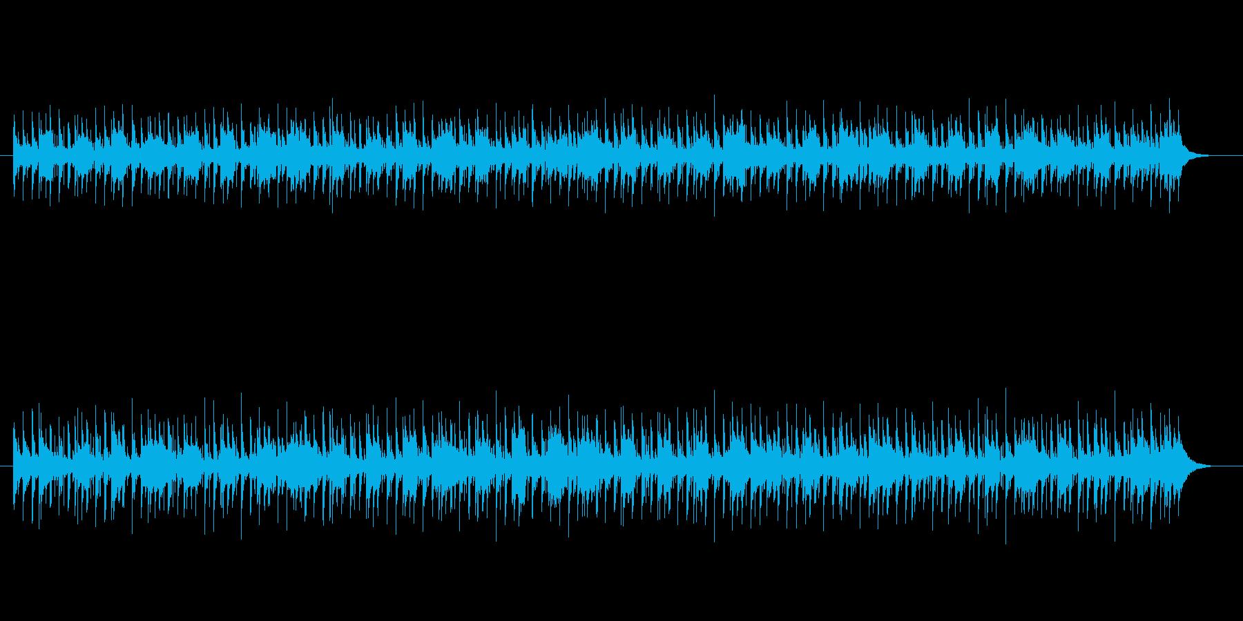 淡々としたエレクトリック・リズムの再生済みの波形