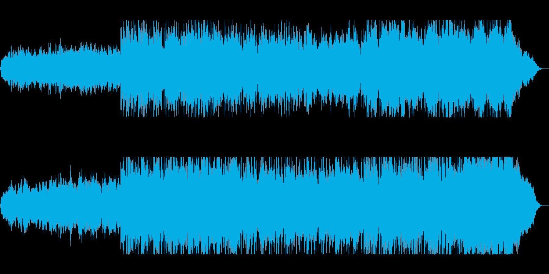 バイオリンとピアノのサウンドトラックの再生済みの波形