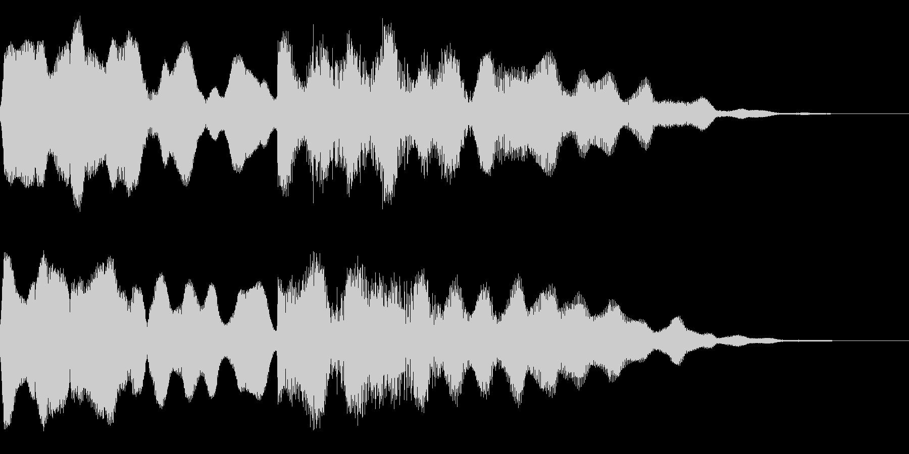 ビブラフォンとシンセサイザーのジングルの未再生の波形