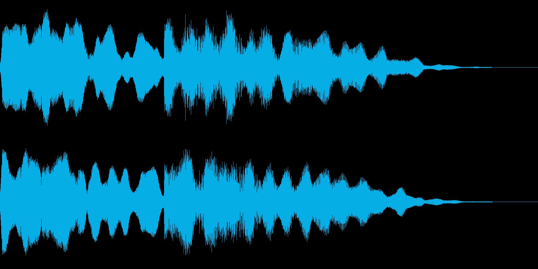ビブラフォンとシンセサイザーのジングルの再生済みの波形