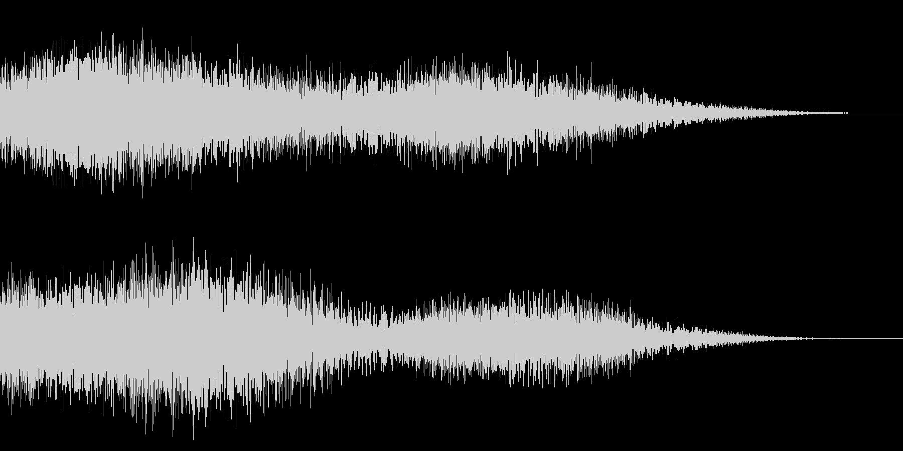 ホラー系アタック音37の未再生の波形