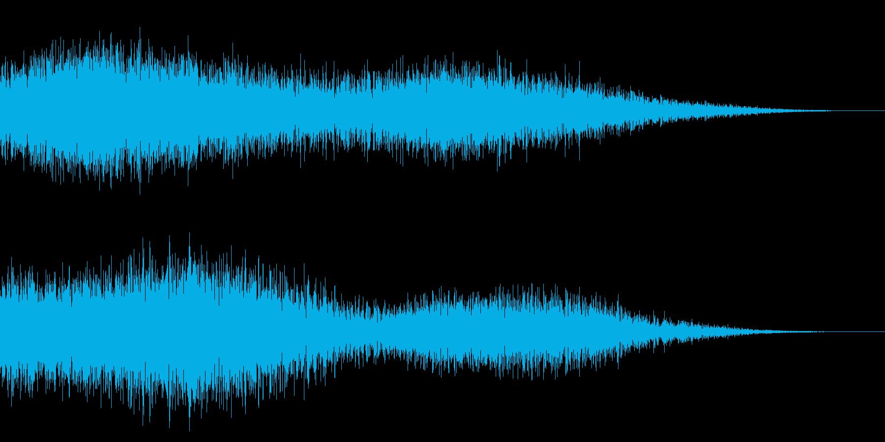 ホラー系アタック音37の再生済みの波形