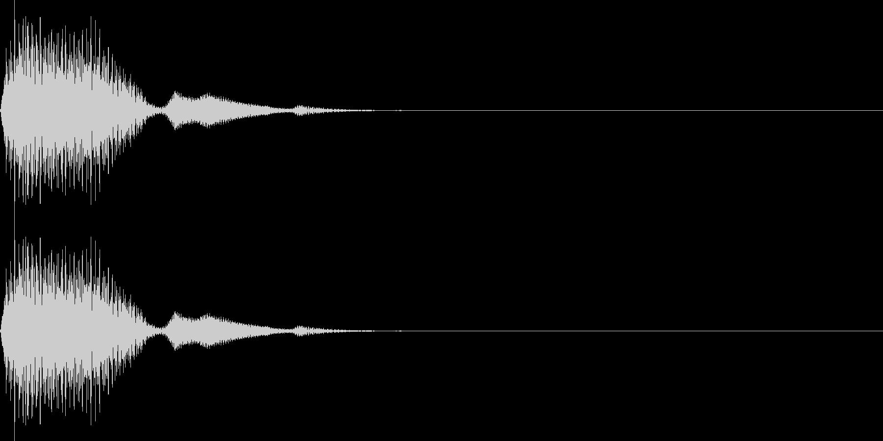 ピッ(カーソル移動 決定 選択)の未再生の波形