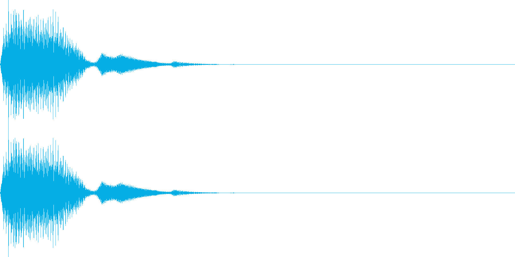 ピッ(カーソル移動 決定 選択)の再生済みの波形