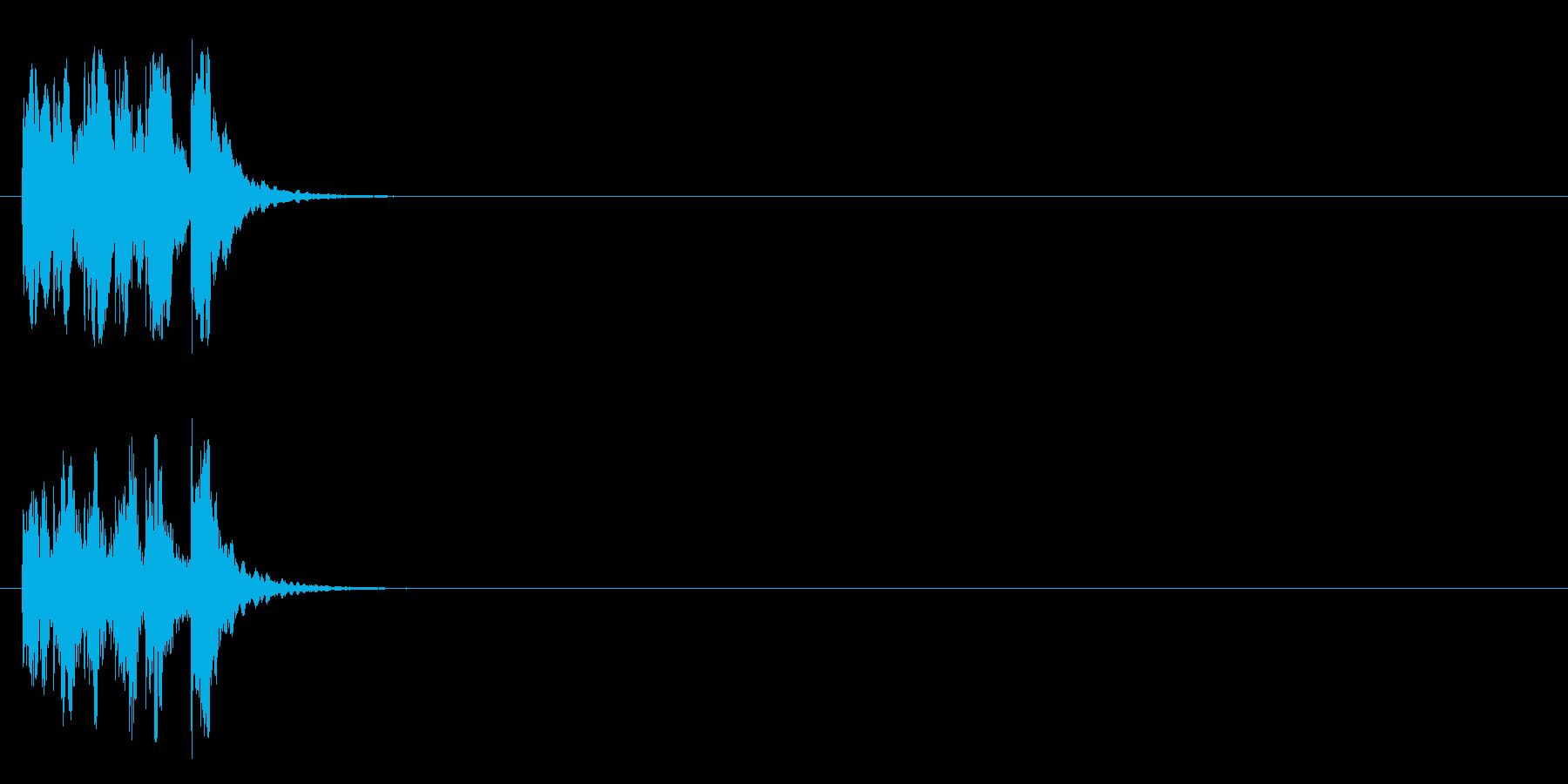 ジングル/アタック(ほのぼのコミカル風)の再生済みの波形