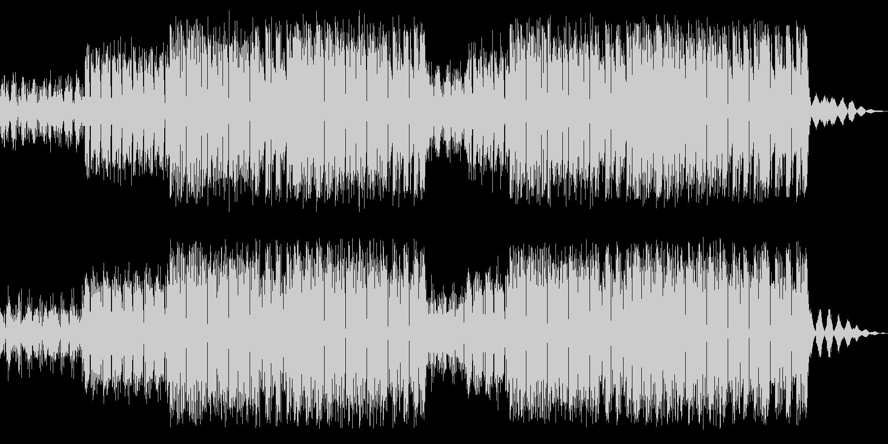 サイバーなラスボス ブレイクビーツEDMの未再生の波形