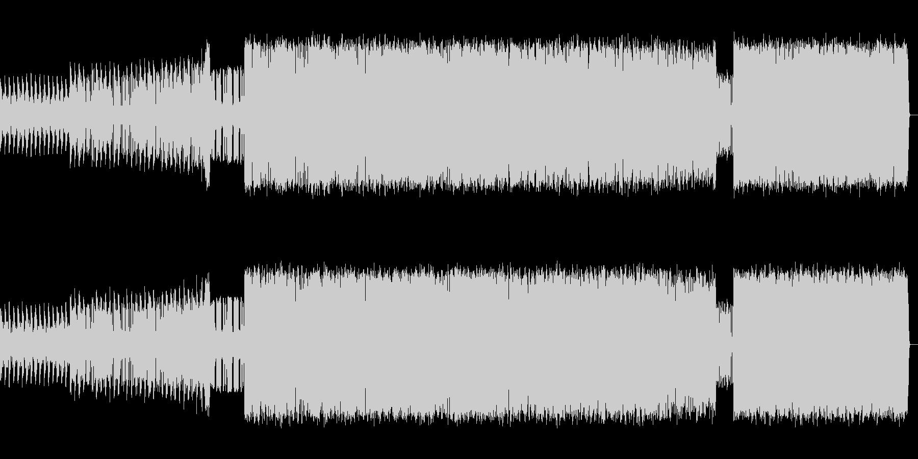 ベース音のきいた挑戦的なポップスの未再生の波形